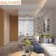 Large sticker wave ripple pattern acrylic 3D mirror wall stickers living room bedroom porch TV sofa decor