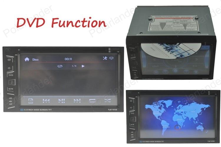 Front/rear camera input Car DVD AM/FM touch screen 6.8 inch Bluetooth car MP5 Radio 2 DIN steering wheel control