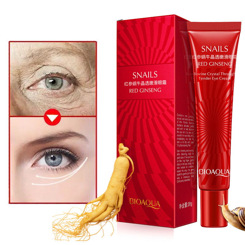 BIOAQUA Brand Snail Essence Eye Cream Moisturizer Instantly Effects Fade Fine Line Makeup gel Remove Dark Circle Lift Skin Care