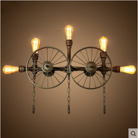 A1 Loft Retro American Industrial Wind Pipe Wall Bar Cafe Internet Cafe Wall Lamps Personality Clothing