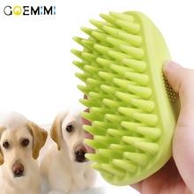 Fur Grooming Massaging Pet Dog Cat Bath Brush Comb Rubber Glove Hair Massage Mit Pet Shower Dog Brush Combs цена