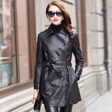 Genuine Leather Jacket Women 2019 Sheepskin Coat Slim Autumn Korean Fashion Real Leather Jacket Campera Mujer HQ18-YWD8007AYY352(China)