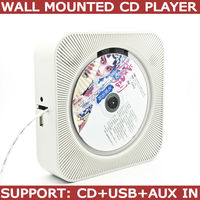Free Shipping NEW Latest Wall Mounted Hifi Portable Stereo CD Player MP3 Remote Control Build In