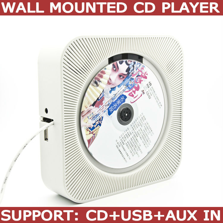 in wall mounted cd player support CD MP3 USB and AUX in