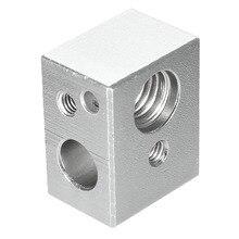 NEW 4pcs MK10 Heating Blocks M7 thread for Wanhao Dupicator D4 /I3/ Dremel 3D Printer 20x16x11.5mm Aluminium Silver Alloy