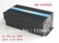 DC24V AC220V Solar Panel Inverter 4kw Off Grid Converter CE ISO Approved One Year After Sale