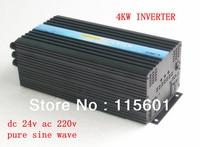 DC24V AC220V Solar Panel Inverter 4kw Off Grid Converter CE ISO Approved One Year After Sale