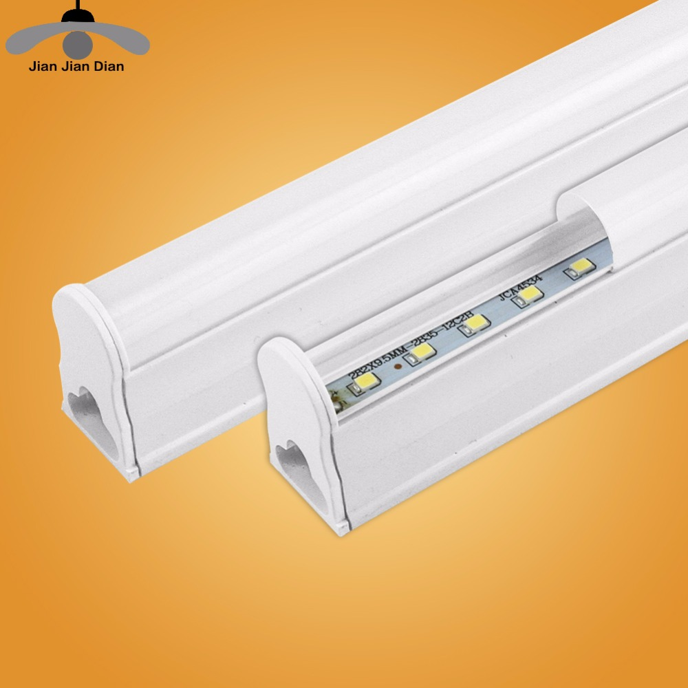 LED Tube T5 Integrated Light 1FT 2FT LED Fluorescent Tube Wall Lamp 6W 10W Lampara Ampoule Cold Warm White 110V 220V Bulb Light 2pcs set t5 led light tube ac85 265v 2 5w wall lamps 1ft led t5 tube fluorescent lamp lights connect cord power switch cable