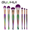 ColorWomen 7pcs Mermaid Makeup Brushes Set Eyebrow Eyeliner Blush Cosmetic Concealer Brushes 161221 Drop Shipping