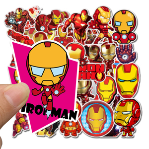 Image 2 - 35Pcs/pack Iron Man Graffiti Stickers Marvel For laptop Mouse Motorcycle Skateboard Guitar luggage Cute Style Stickers