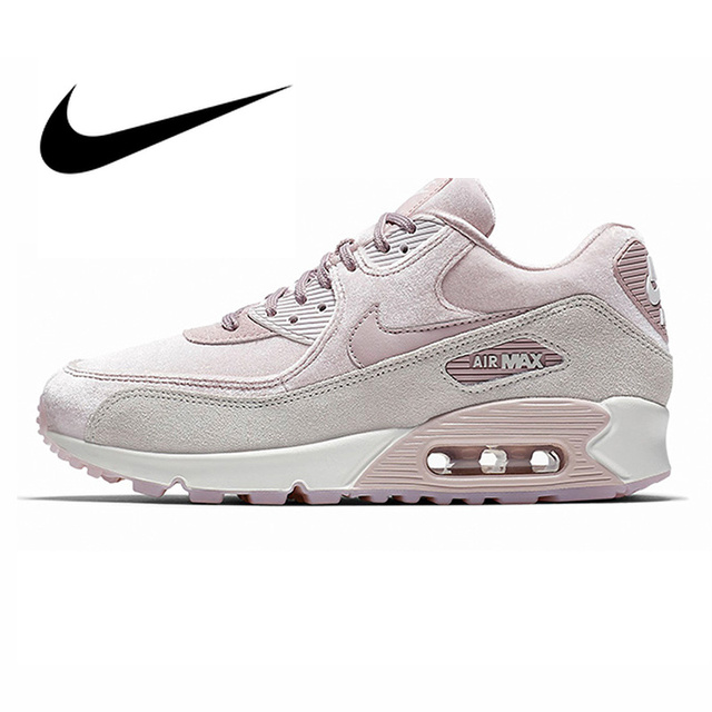 fa038e289 Original NIKE AIR MAX 90 LX Women's Running Shoes Sport Outdoor Sneakers  Lace-up Durable