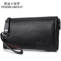 FEIDIKABOLO Famous Brand Men Wallet Luxury Long Clutch Handy Bag Moneder Male Leather Purse Men S