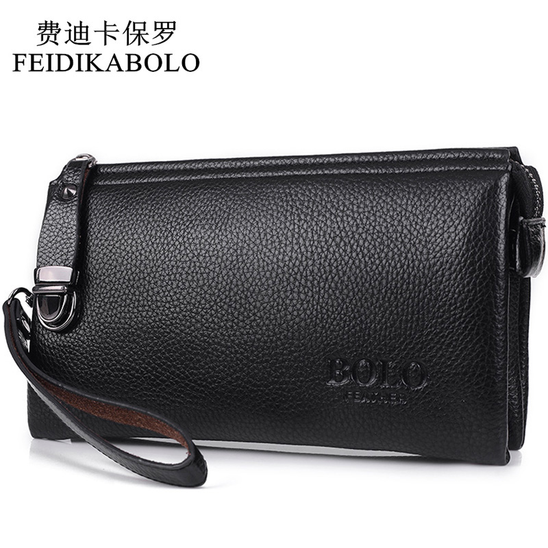 FEIDIKABOLO Famous Brand Men Wallet Luxury Long Clutch Handy Bag Moneder Male Leather Purse Men's Clutch Bags carteira Masculina 2016 famous brand new men business brown black clutch wallets bags male real leather high capacity long wallet purses handy bags