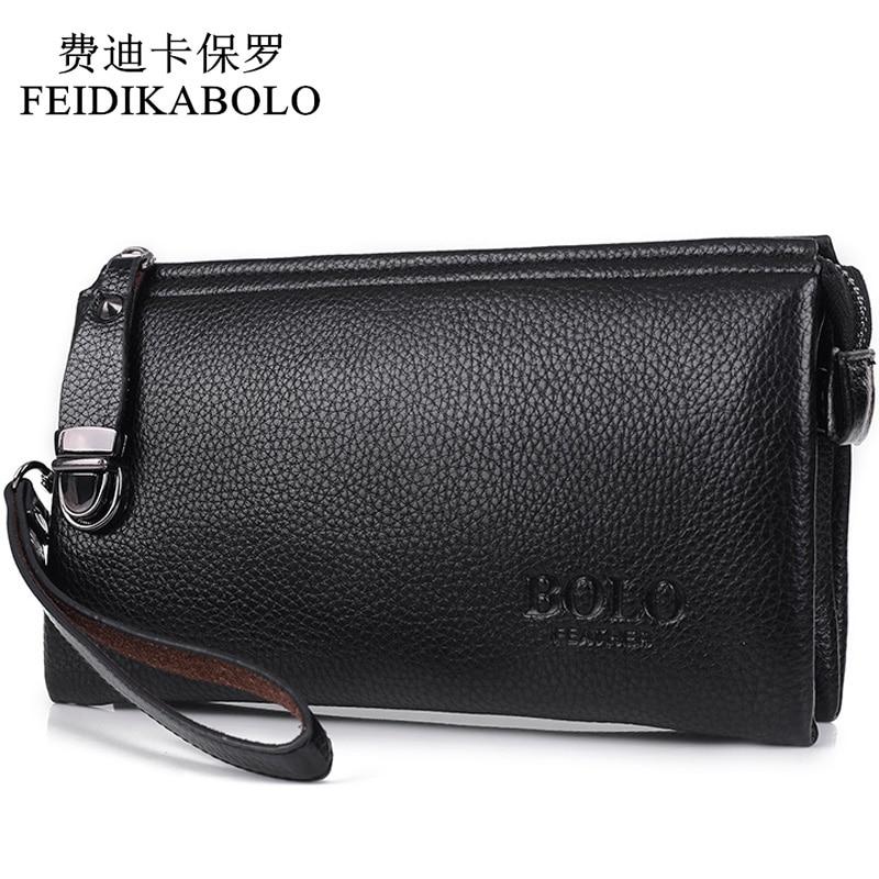 65c66dc25 Feidikabolo famosos homens marca carteira luxo longo embreagem saco  acessível moneder sacos de embreagem dos homens bolsa de couro masculina  carteira ...