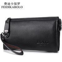 FEIDIKABOLO Famous Brand Men Wallet Luxury Long Clutch Handy Bag Moneder Male Leather Purse Men S