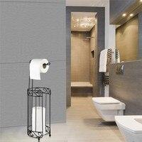 DOORSACCERY Vintage Iron Toilet Paper Tissue Holder Hanging Towel Roll Holder Bathroom Wall Mount Rack Ship