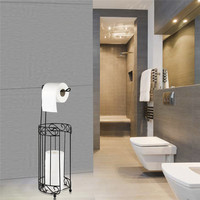 DOORSACCERY Vintage Iron Toilet Paper Tissue Holder Hanging Towel Roll Holder Bathroom Wall Mount Rack Ship
