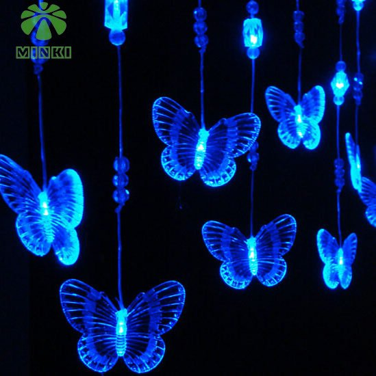 Aliexpress Com Buy Minki Battery Operated Waterproof Ip20 Width 80cm Height 1m Butterfly Shape Party Decoration Item Led Curtain Light From Reliable