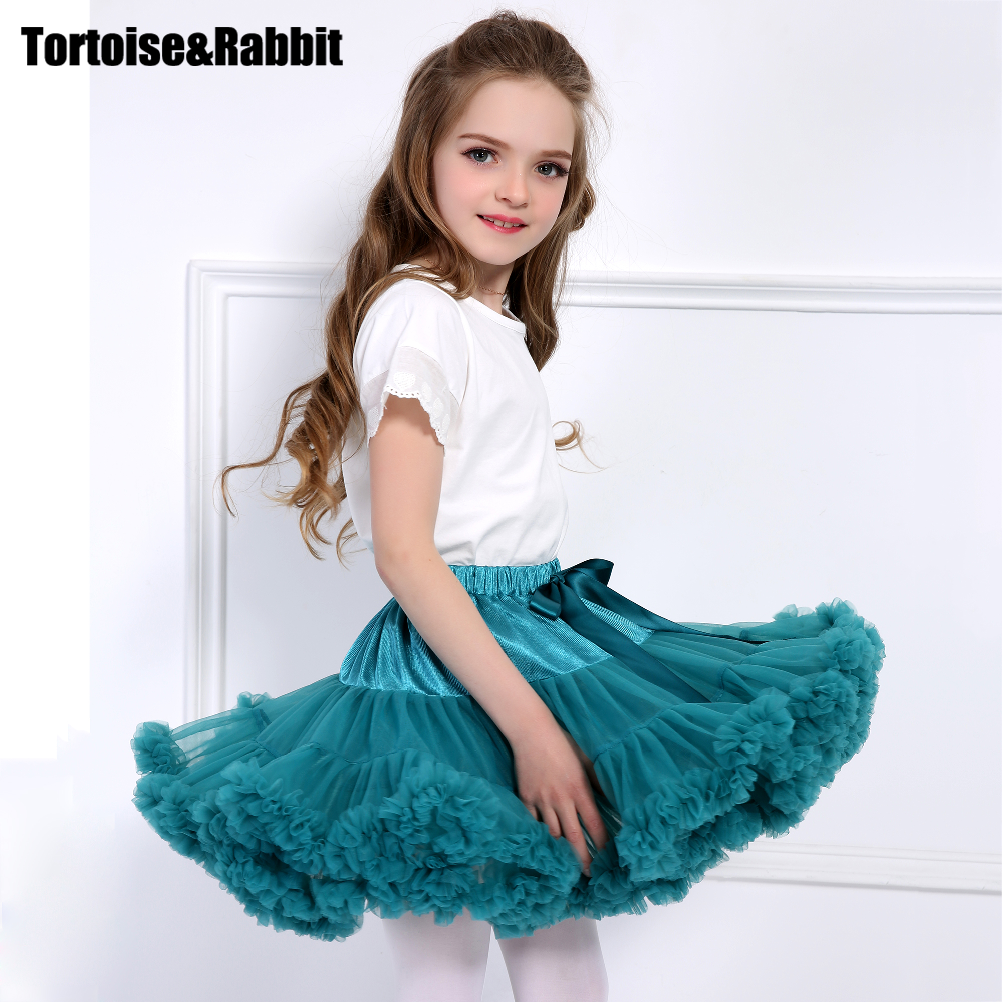 0a1a8facc Baby Girls Tutu Skirt Fluffy Children Ballet Kids Pettiskirt Baby ...