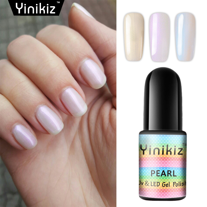 Yinikiz Nude Pink Uv Gel Polish Pearl Color Gel Varnish Professional ...