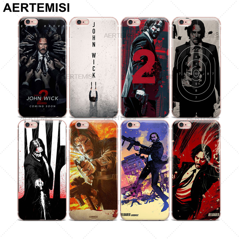 Aertemisi Phone Cases John Wick Keanu Reeves Clear Soft TPU Case Cover for iPhone 5 5s SE 6 6s 7 Plus ...