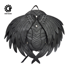 Punk Wing Leather Backpack Gothic Women Men Black Ghost Monster Vampire Retro Steampunk Fashion Travel Casual Bags New