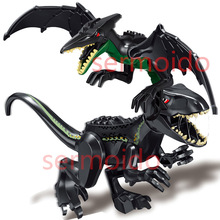 Jurassic World Brutal Raptor Despotic dragon Building Blocks Jurrassic 2 Dinosaur Figures Bricks For Children Toy