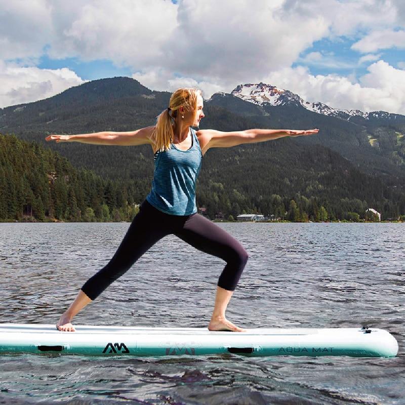 Aqua Marina 300*100*15 cm La Paix Partie Tapis Partie Conseil SUP Stand Up Paddle Board Plate-Forme pour Yoga Surf Stabilité A01015