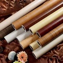 Winylowa folia dekoracyjna PVC samoprzylepna tapeta drewno papier przylepny do szafek kuchennych okładka Home Decor wodoodporna ściana papierowa
