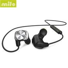 Cheaper mifo U6 Wireless Bluetooth Headset Waterproof Sport Headphones Noise Cancelling Running Earbuds Bluetooth Earphone for iphone