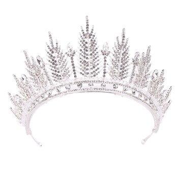LAN PALACE, nuevas Tiaras de novia de trigo, corona real, accesorios de boda y cumpleaños, pluma de cristal, joyería para el cabello, envío gratis