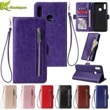 Кожаный чехол для huawei P20 P30 Lite Pro Honor 8A 8C 8X9 10 Lite Y5 Y6 Y7 P Smart чехол-кошелек на молнии чехлы для телефонов