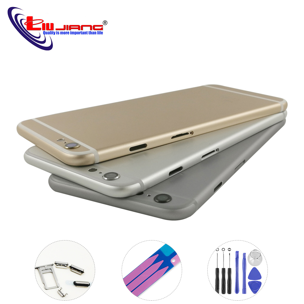 Liujiang New Back Housing for iPhone 6 6S Plus Battery Cover Housing Case Middle Chassis Body with IMEI Replacement repair parts
