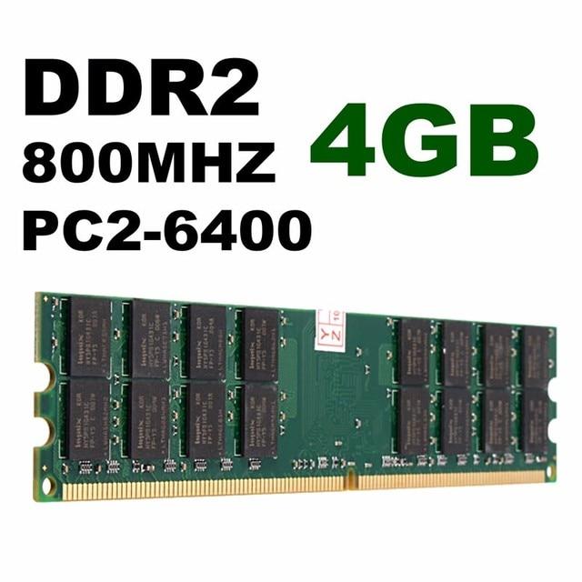 4 GB DDR2 Bộ Nhớ RAM 800 MHZ PC2-6400 240 Pins Máy Tính Để Bàn PC bộ nhớ Cho Bo Mạch Chủ AMD Hight Chất Lượng Bộ Nhớ Card Đối Với máy tính máy tính xách tay
