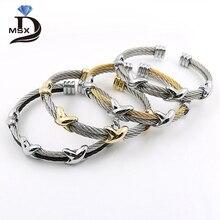4 стиля Мода нержавеющая сталь мужчины и женщины браслеты со звездами браслет регулируемый провод любовь браслет панка Pulseiras