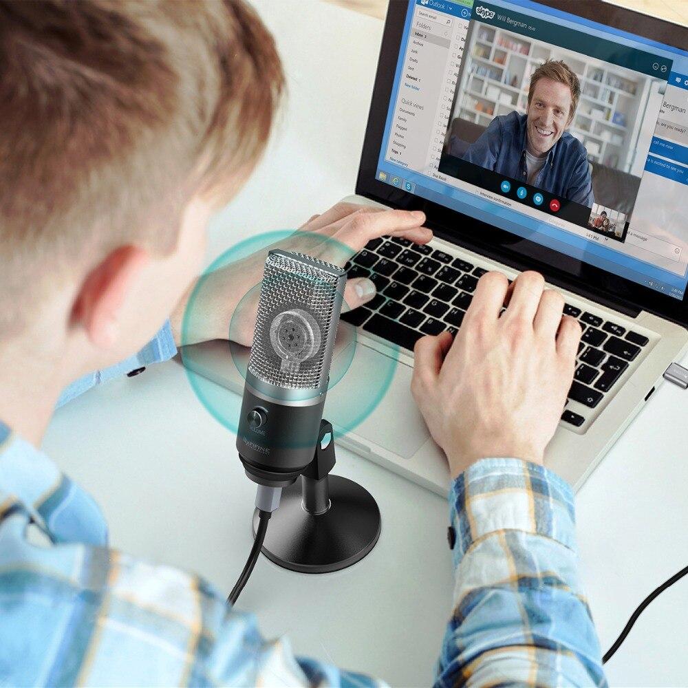 FIFINE a micrófono USB para ordenador portátil Mac y computadoras para grabación de Streaming Twitch voz off Podcasting para Youtube Skype K670 - 6