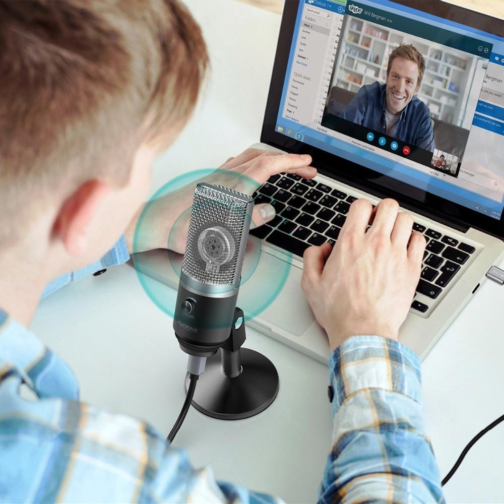 FIFINE microphone usb pour Mac ordinateur portable et Ordinateurs pour Enregistrement Streaming Contraction Voix off Podcasting pour Youtube Skype K670 - 6