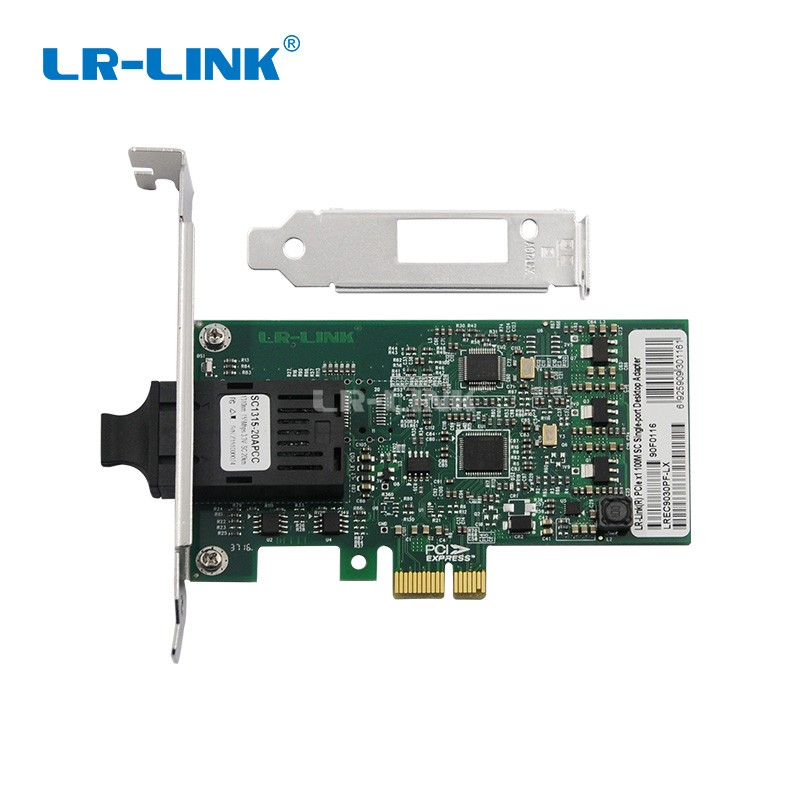 LR-LINK 9030PF-LX 100Mb Fiber optical Lan adapter Nic 100FX pci express x1 ethernet network card for pc computer Intel 82574 winyao usb100f usb2 0 to 100fx sfp desktop fiber ethernet network card adapter ax88772b nic for pc macbook air laptop notebook