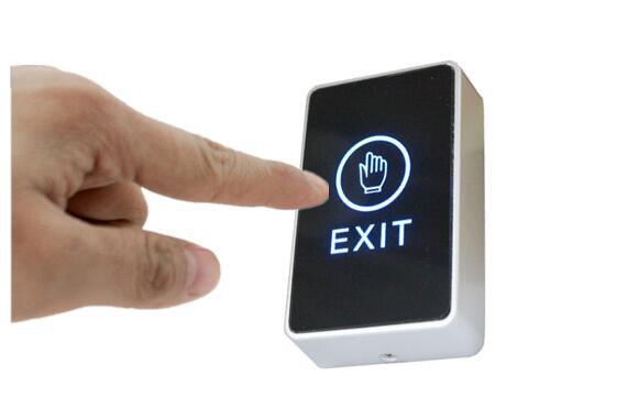 Frete grátis, botão de saída de toque, painel acrílico sênior, saída não/nc/com, caixa elétrica de luz traseira azul cassete, min: 1 pçs