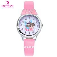 KEZZI Brand Children S Watches Kids Quartz Watch Student Girls Quartz Watch Cute Colorful Butterfly Dial