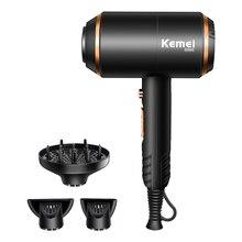 Secador de cabelo elétrico forte, com sistema de proteção contra sobrecalor, máquina para secar cabelo sem ferimento