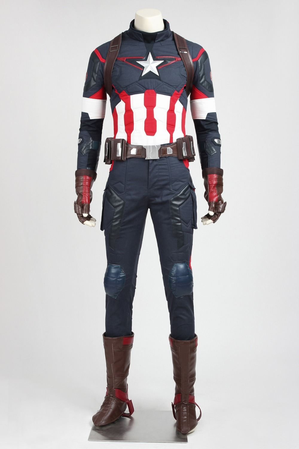 The Avengers: Age Of Ultron Capitan America Costume Cosplay Outfit ...