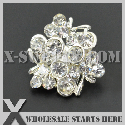 Dhl Free Shipping Special Rhinestone Embellishments Button With
