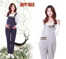 Cotton Spring Autumn Maternity Clothing Knitting Belly Pants For Pregnant Women Brand Zip Overalls Valentine Gift