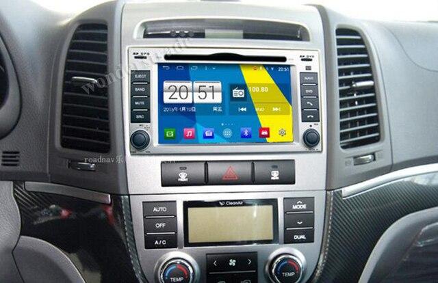 S160 Quad Core Android 4.4 Car DVD Player GPS Navigation Radio Stereo for Hyundai Santa Fe 2008 2009 2010 2011 Mirror Link wifi