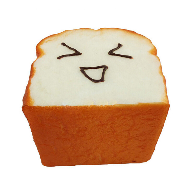 1Pcs Bread Jumbo Toast Squishy Expression Card Cellphone Holder Hand Pillow  Toy Bag Hanger Home Decor 8 Cm*8 Cm*6.5 Cm  In Figurines U0026 Miniatures From  Home ...