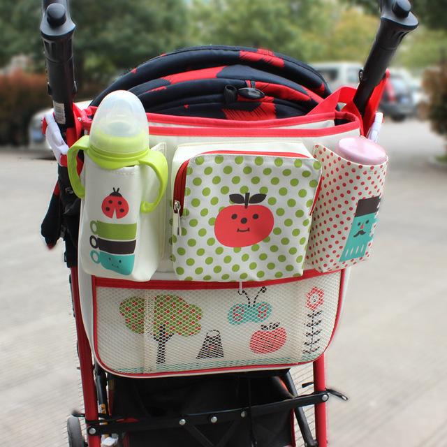 Mummy Bag Baby Car Hanging Basket Storage Stroller Accessories Multifunctional Waterproof Universal Baby Stroller Bag Organizer