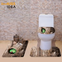 HUGSIDEA Funny 3D Animals Parrot Owl Printed Toilet Seat Cover Warmer Soft Toilette Lid Cover Bathroom Floor WC Mats Home Decor
