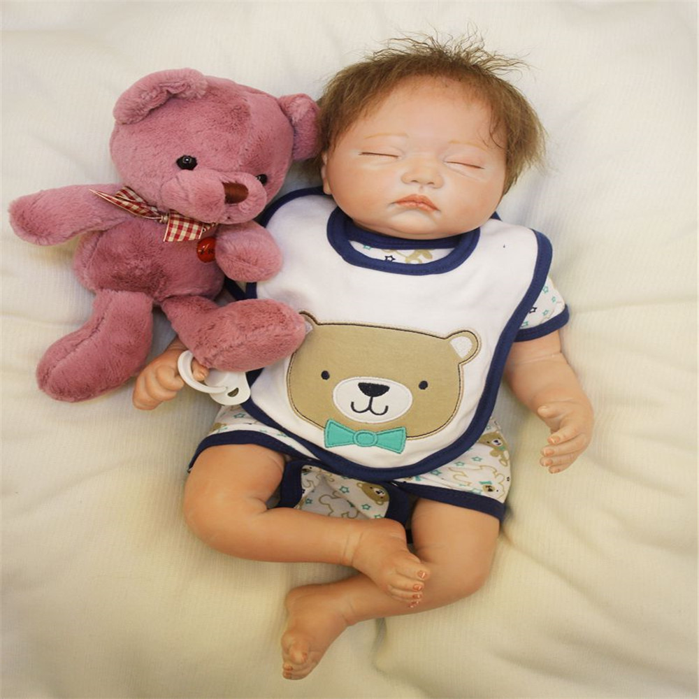 SanyDoll 20 inch 50 cm Silicone baby reborn dolls, Lovely suit sleeping doll birthday gift for boys and girls holiday giftsSanyDoll 20 inch 50 cm Silicone baby reborn dolls, Lovely suit sleeping doll birthday gift for boys and girls holiday gifts
