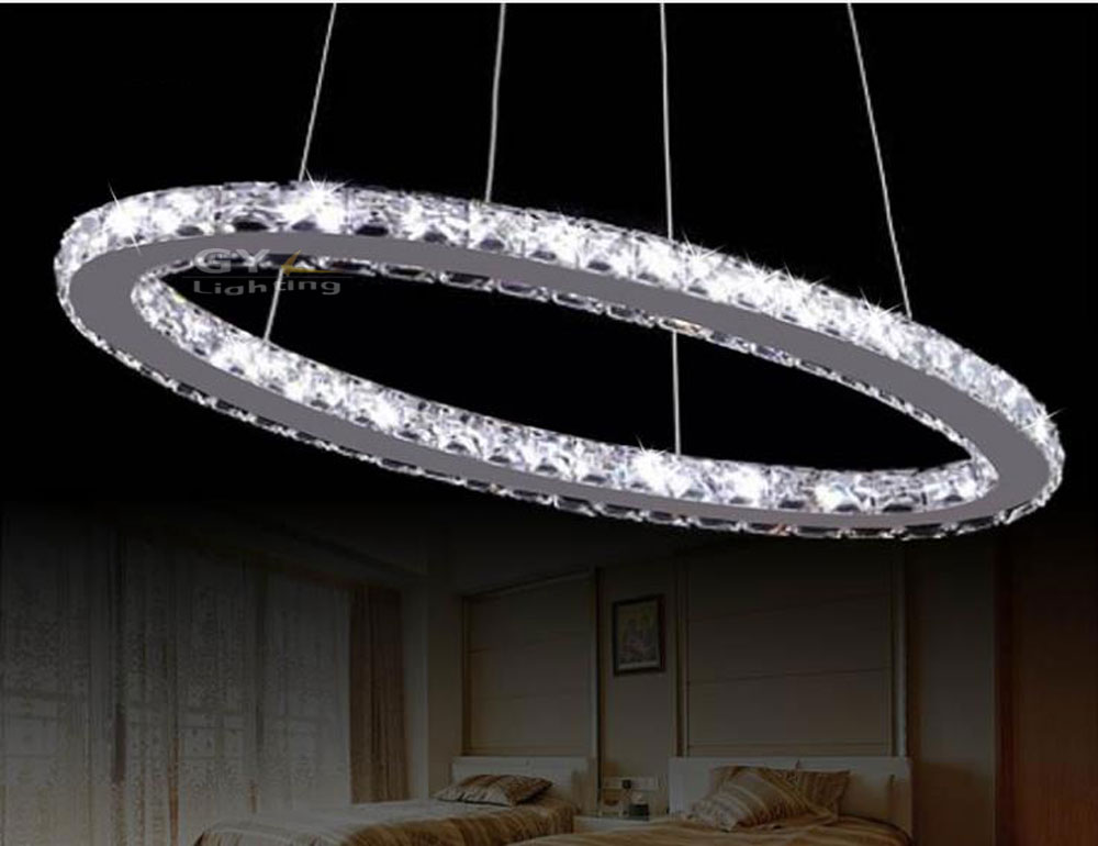 AC 100-240V 18w 50*20cm LED crystal Pendant lights home livingroom lighting  Modern UK Soccer Rugby LED energy saving fixtures